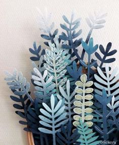 succulents of paper and paperboard / Кактусы и суккуленты из бумаги и картона