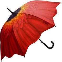 Full Size Red Daisy Umbrella