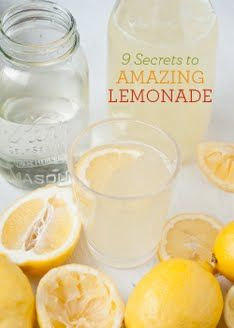 Lemonade 101... Making it from Scratch | How do you make this simple Lemomade?  Well it's made with chilled water/ice, sugar for simple syrup, and... umm...  O-geez, it's right in front of my face ... Lemom's [wasn't even looking]