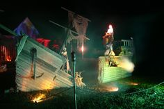 Prop Showcase: We were overrun by Pirates, again!! Halloween 2011 Display PICTURES