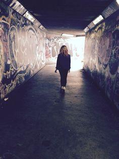 Another photo I captured of my class mate. My inspiration - Graffiti Art and Grunge Fashion.