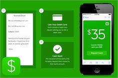 The Square Cash application allows customers to receive money by providing their debit card number.