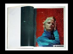 Jil Sander S/S '00, Malgosia Bela photographed by Mario Sorrenti, art direction by Marc Ascoli.