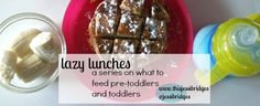 meal and snack ideas and suggestions for the pre-toddler and toddler in your house.