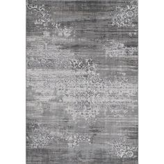 Machine Made Mardin Grey Polypropylene & Viscose Rug (7'6 x 9'6)