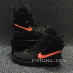 af99990e83d Nike Special Forces Air Force 1 Boots Faded Olive Faded Black Orange Free  Shipping HXEfy