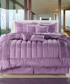 Take a look at this Purple Seville Comforter Set by Chic Home Design on #zulily today!