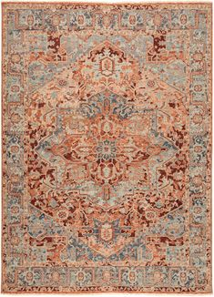 The entrancing Inspirit collection marries globally inspired patterns with magical color palettes. The hand-knotted Elyas area rug features a contemporary colorway of red, blush, and slate gray for an inviting accent in living spaces. Crafted of durable wool, this ornate rug showcases a center star medallion and elegant floral details.