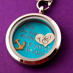 I'll Be Your Anchor Floating Locket Set - Living Locket - Personalized Memory Locket on Etsy, $22.00