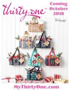 I look forward to showing you our Thirty-One Bags.