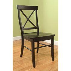 TMS Easton Crossback Chair, Black