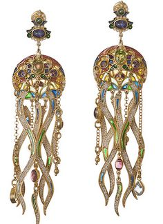 Jellyfish earrings, right?  Diego Percossi Papi is a jeweler of great talent. Thirty years on, his creations can be found in art galleries throughout Europe, the USA and Japan. Reproductions can be seen in the most prestigious magazines of the world, alonside those of Cartier, Buccellati and other celebrated jewellers. His jewels are worn by international stars of the cinema and television.
