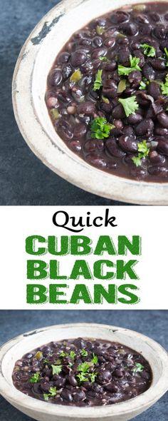 Quick Cuban Black Beans | Cuban black beans | black bean recipe | easy black beans | quick black beans | cuban bean recipe
