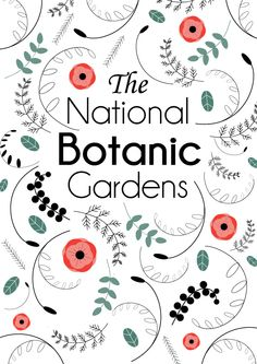 A poster series for the national botanic gardens. Poster Series, Poster Designs, Botany, Botanical Gardens, Vintage Posters, Parks, My Design, Typography, Behance
