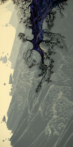Mountain Rise, 1980 - Eyvind Earle