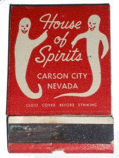 Vintage House of Spirits matchbook Vintage Labels, Vintage Ads, Vintage Purses, Halloween Countdown, Matchbox Art, Pop Art, Vintage Graphic Design, Light My Fire, Lettering