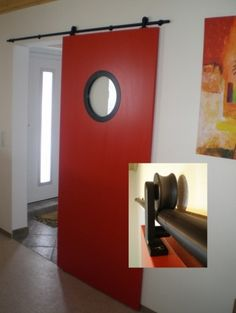 a red sliding door...does sparks your home..