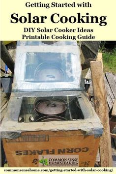 Solar Cooking Basics - Easy Solar Cooker Designs, How to Cook Food in a Solar Oven, Basic Solar Cooking Recipes to get you started, printable cooking guide. Survival Food, Emergency Preparedness, Survival Skills, Survival Tips, Emergency Preparation, Emergency Kits, Emergency Supplies, Survival Stuff, Homestead Survival