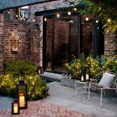 42 Terrace Garden Design With Beautiful Lighting Ideas Backyard Lighting, Outdoor Lighting, Outdoor Decor, Lighting Ideas, Outdoor Pergola, Design Exterior, Garden Lanterns, Garden Fairy Lights, Outdoor Fairy Lights