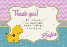 Spot the Dog invite First birthday by CoffeeCupcakeDesigns