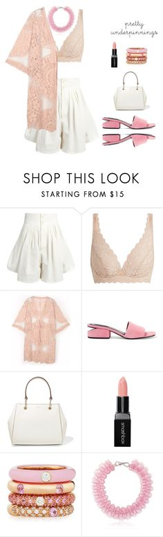 """""""Untitled #1320"""" by polychampion-805 ❤ liked on Polyvore featuring Chloé, Hanro, Do Everything In Love, Alexander Wang, DKNY, Smashbox, Adolfo Courrier, Mary Katrantzou and prettyunderpinnings"""