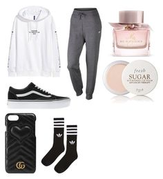 """""""Untitled #497"""" by thahera00 on Polyvore featuring NIKE, Vans, Gucci, Burberry, Fresh and adidas"""