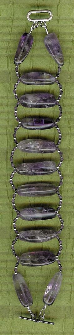 Bracelet  Amethyst Sterling Silver by ChicStatements on Etsy, $45.00