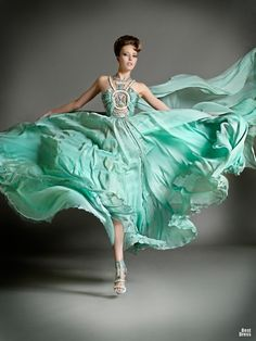 ZsaZsa Bellagio: turquoise (okay...not quite green but love it)