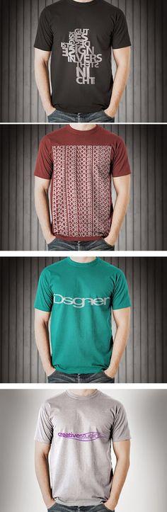T-Shirts Mockup Free PSD (mais no site)