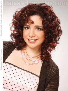 Naturally Curly Hairstyles Bangs