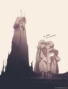 Sauron and hobbits. ‹ Pining for the ring calling Sauron Daddy.