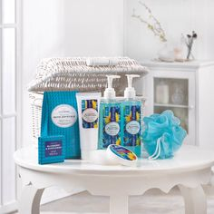 Blueberry and Sunflower Spa Bathroom Accessory Set