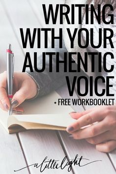 Our month of authenticity is merging into our month of writing. The two overlap - How do we write with our authentic voice? Free workbook for writers Book Writing Tips, Writer Tips, Writing Process, Writing Quotes, Writing Resources, Writing Help, Writing Skills, Memoir Writing, Writing Workshop