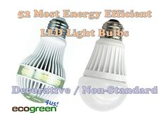 LED Light Bulbs: 52 Most Energy Efficient Decorative