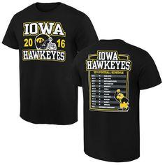 ea8c8b07e Iowa Hawkeyes New Agenda 2016 Football Schedule T-Shirt - Black