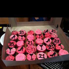 21 birthday cupcake i made :)