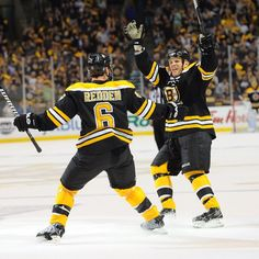 5/1/13 Wade Redden & Shawn Thornton come together following Redden's 1st period goal in game 1 of the playoffs at home vs Toronto.