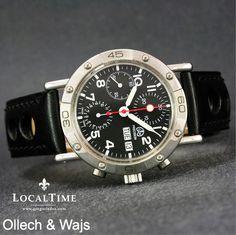 NOS OLLECH & WAJS  Swiss  Precision Chronograph D&D Automatic Valjoux Cal. 7750