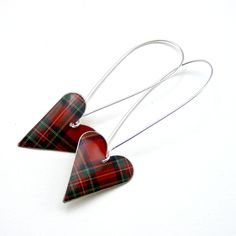 tartan earrings which I totally need