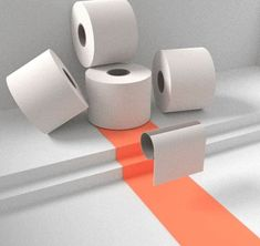 The mess of toiler papers in the though times when people were convinced that they need to buy all toilet paper during the global pandemic. Mockup, 3d Templates, Buy Images, Toilet Paper Roll, 3 D, Times, People, Miniatures, People Illustration