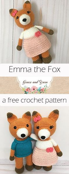 Emma the Fox - A Free Crochet Pattern | Grace and Yarn