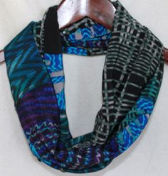 Multicolored Printed Infinity Scarf by KtsKollections on Etsy, $12.00