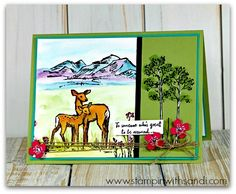 Stampin Up In the Meadow stamp set, card by Sandi @ www.stampinwithsandi.com