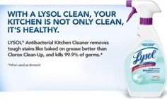 $.50 Off Lysol Antibacterial Kitchen Cleaner