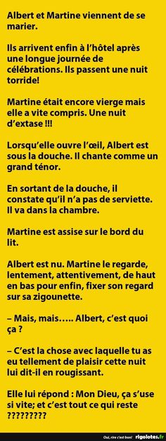 Albert et Martine viennent de se marier... - RIGOLOTES.fr
