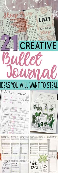 21 Creative bullet journal ideas you will want to steal #bulletjournal #bujo #planner