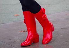 Chanel rain boots!
