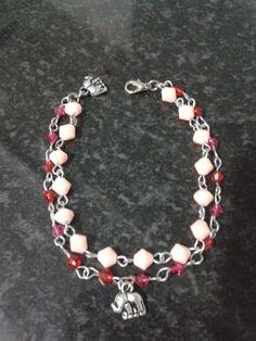 pulseira cristais pink