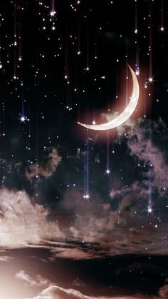 48 Trendy Ideas For Nature Sky Stars Beautiful Moon Cute Wallpaper Backgrounds, Tumblr Wallpaper, Pretty Wallpapers, Aesthetic Iphone Wallpaper, Galaxy Wallpaper, Screen Wallpaper, Nature Wallpaper, Aesthetic Wallpapers, Moon And Stars Wallpaper