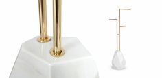Diamond   is   a    3   tier   free   standing   towel    rack   produced   in    polished   brass    and   supported   by   a diamond   shaped   base    built   in    nero   marquina   marble .   Enhance   your    bathroom   decor    with this   sleek   and    contemporary   design    piece   produced   with   attractive   high   end   finishes.